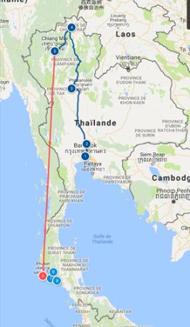 Itinéraire global Thaïlande
