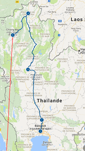Itinéraire Nord Thaïlande