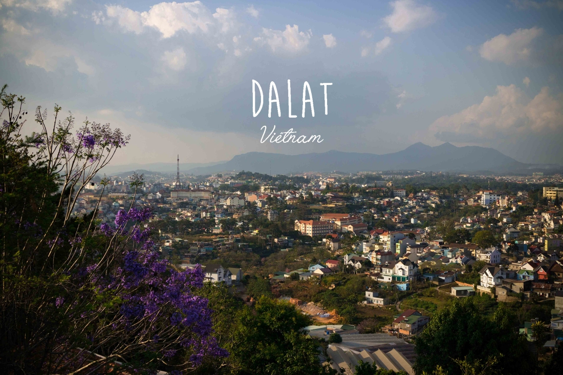 Vue aérienne Dalat Vietnam