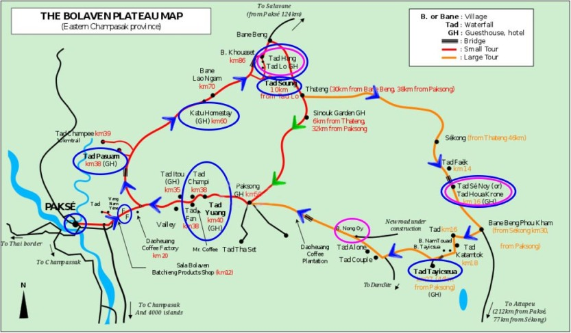 carte plateau bolovens