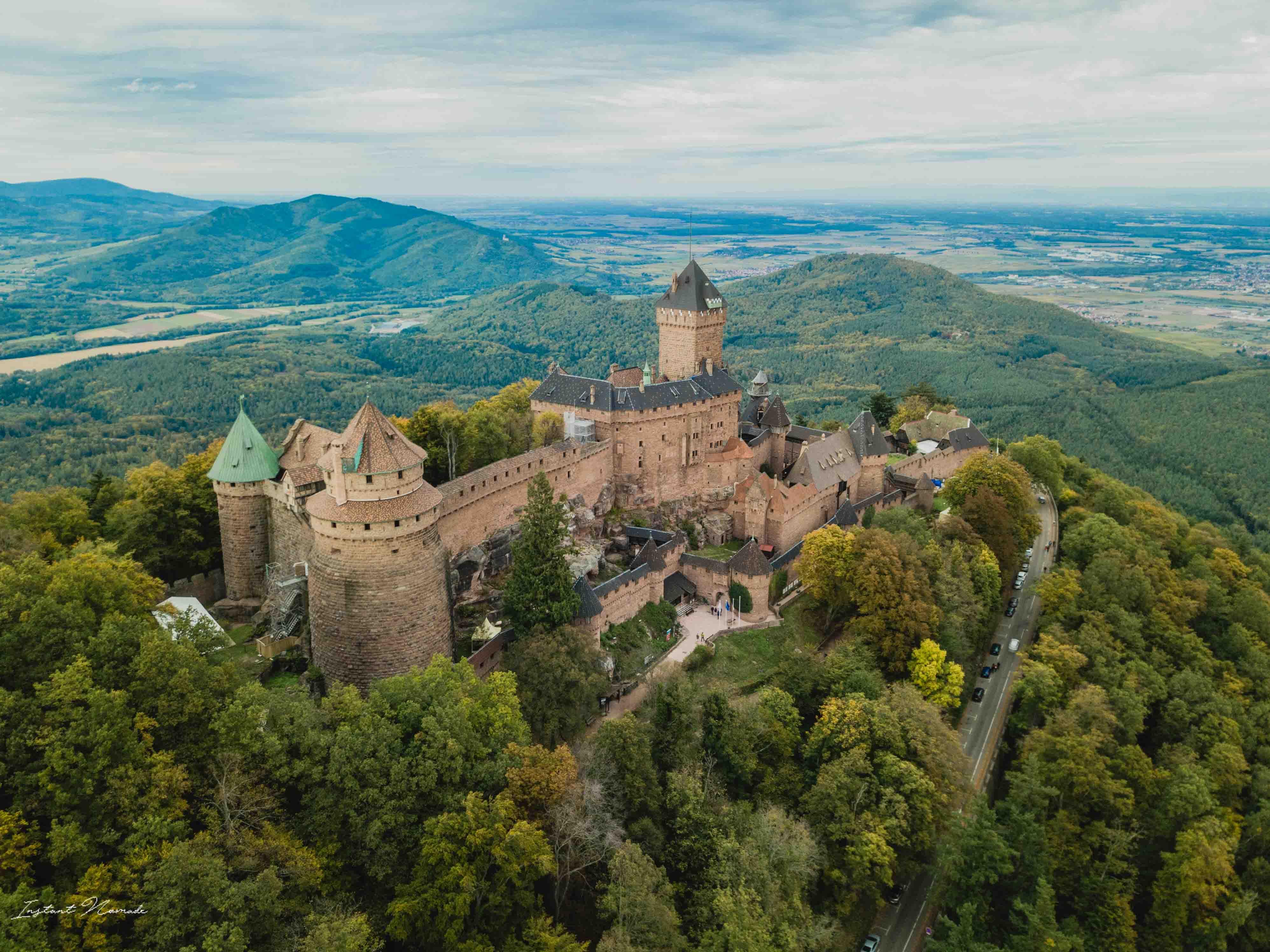 drone alsace chateau haut koenigsbourg