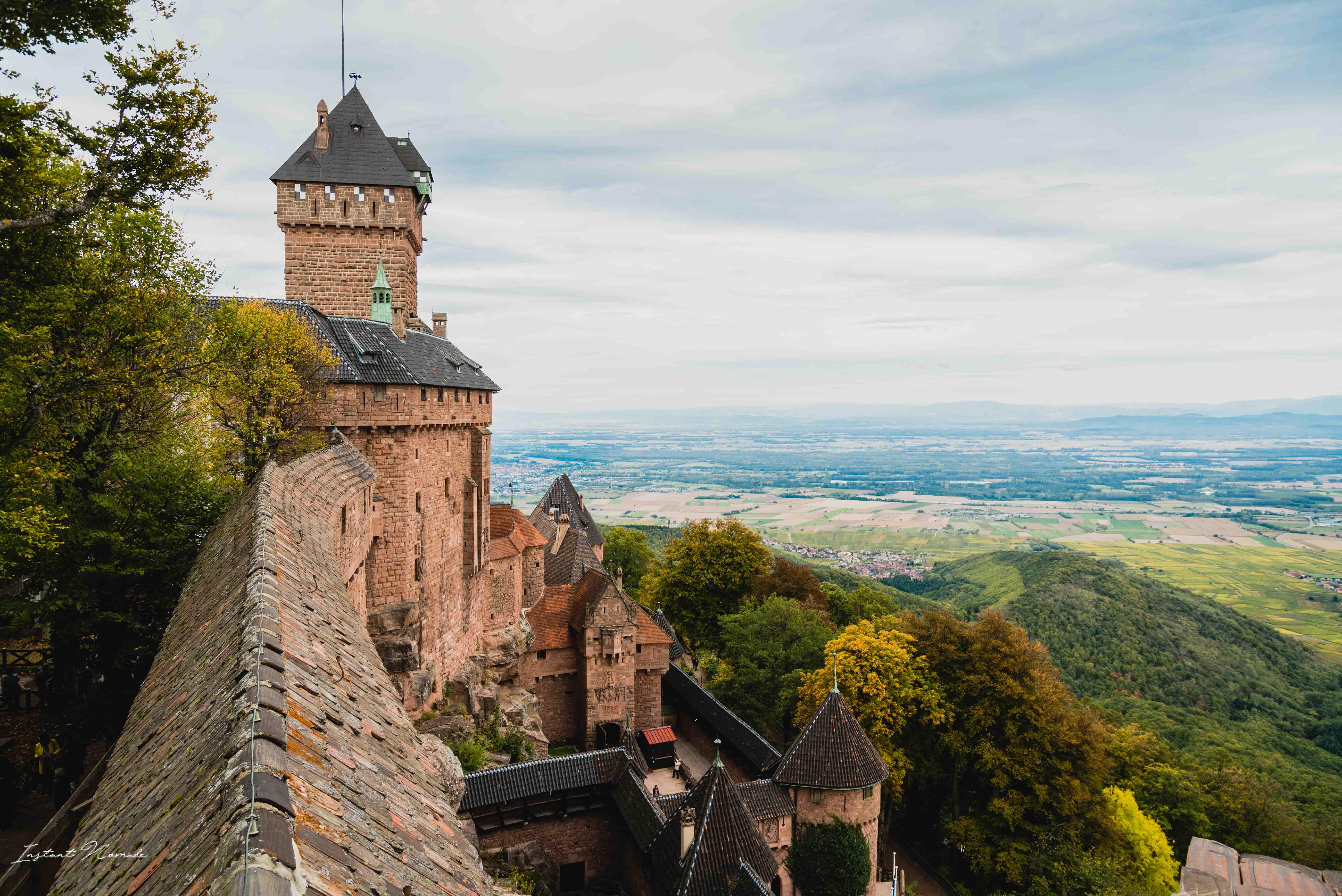 haut koenigsbourg alsace chateau vue