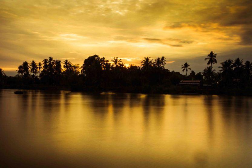 coucher de soleil 4000 îles laos