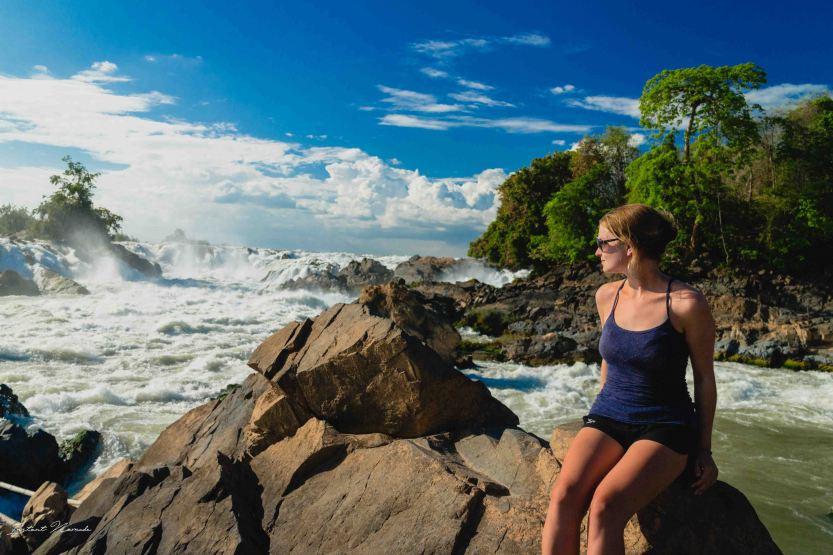 Khonephapheng Waterfall park portrait laos 4000 iles