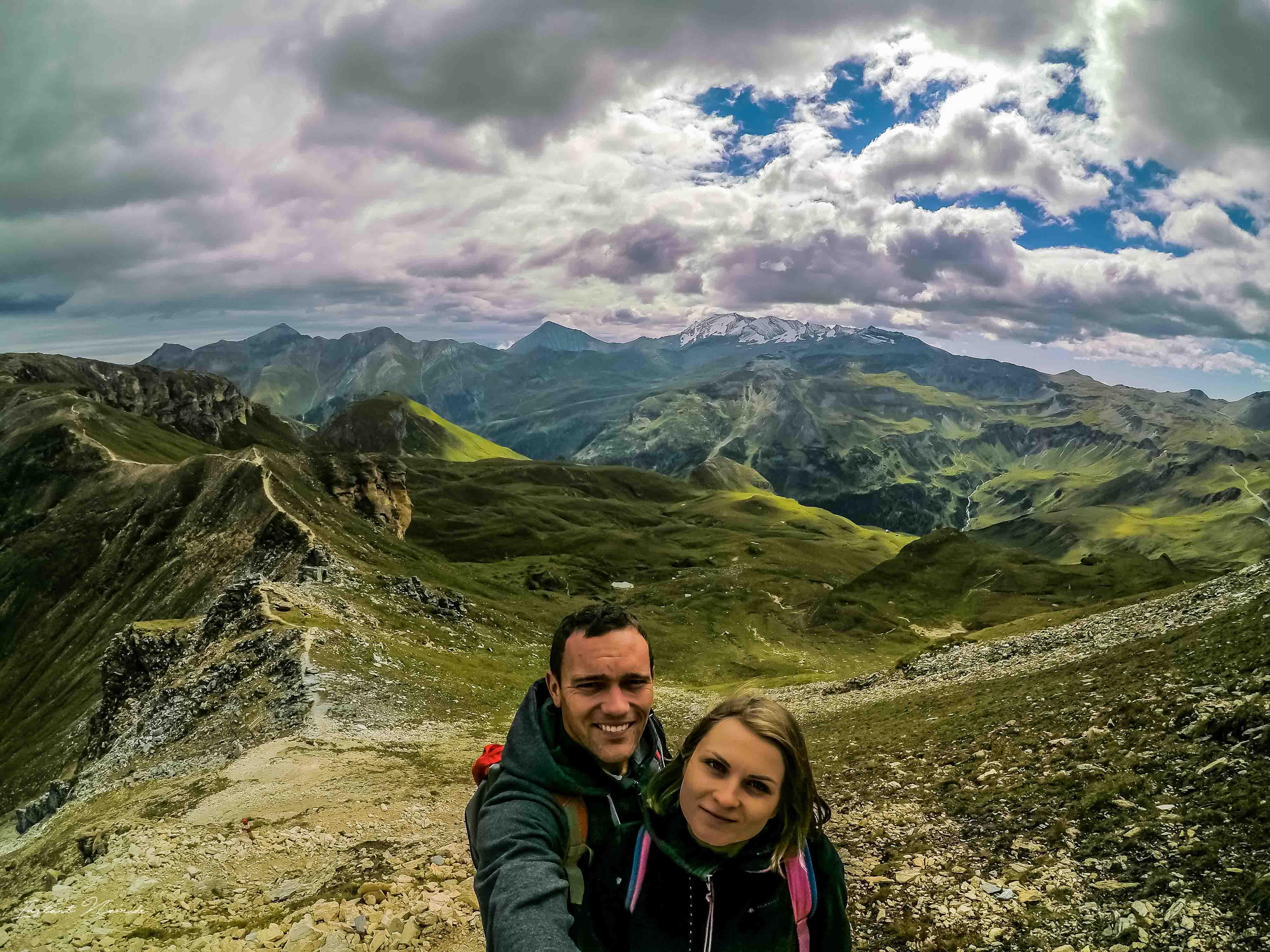 selfie montagne autriche
