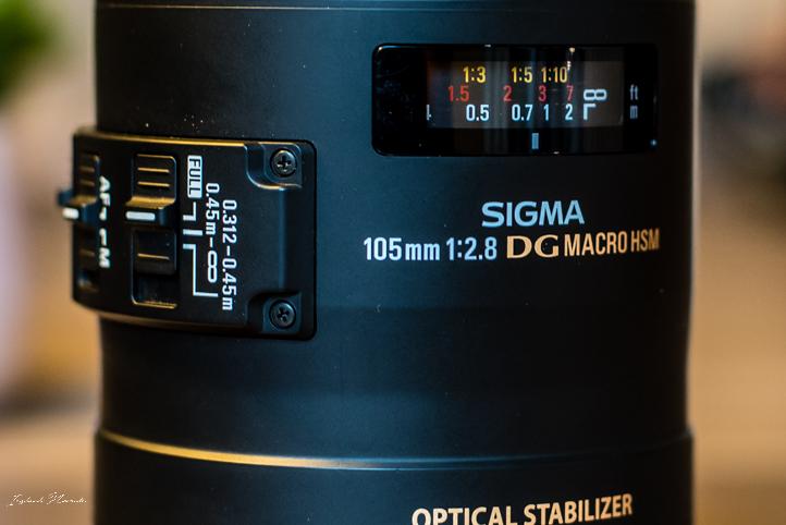 objectif sigma 105 mm f2.8 macro