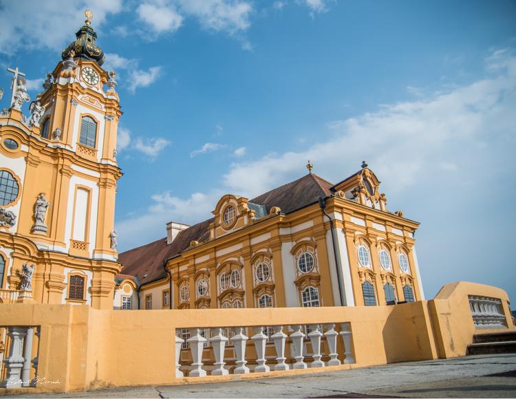 façade abbaye de melk autriche