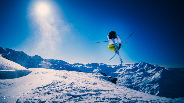 saut ski montagne alpes