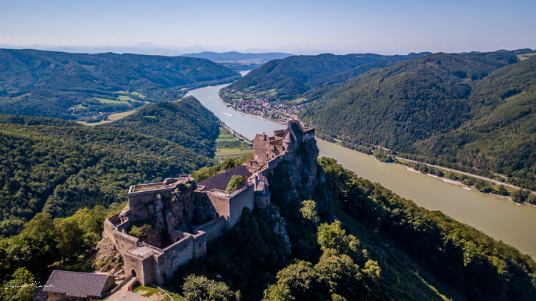 vue chateau aggstein autriche