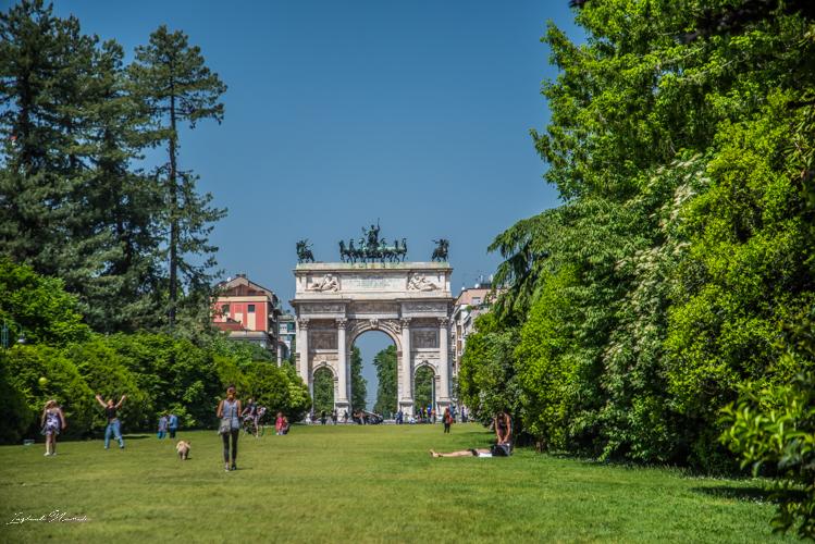 arc de la paix parc sempione milan