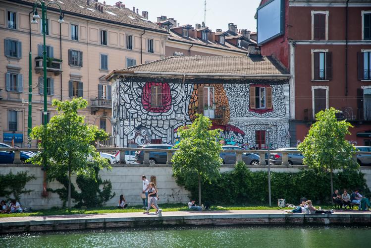 maison street art milan