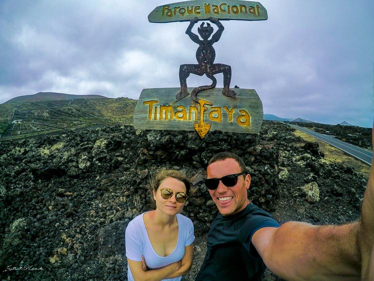 selfie timanfaya lanzarote