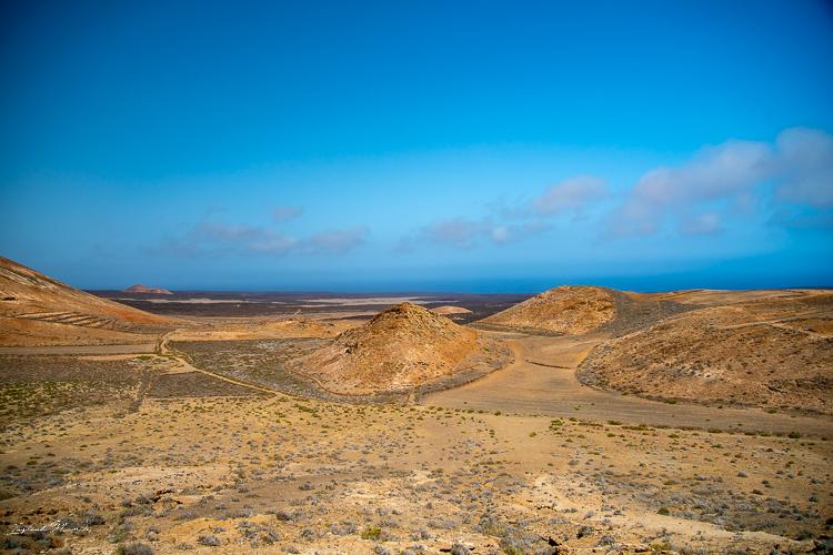vue cratère caldera blanca lanzarote
