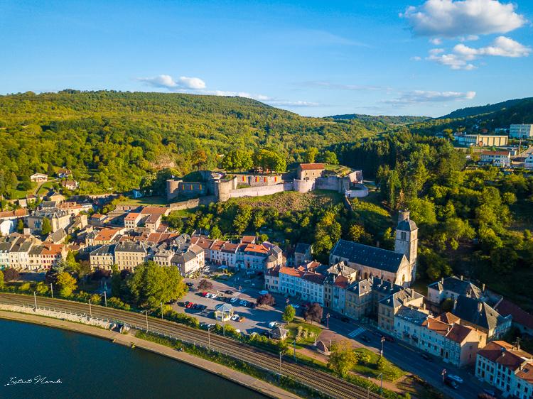vue drone chateau des ducs de lorraine