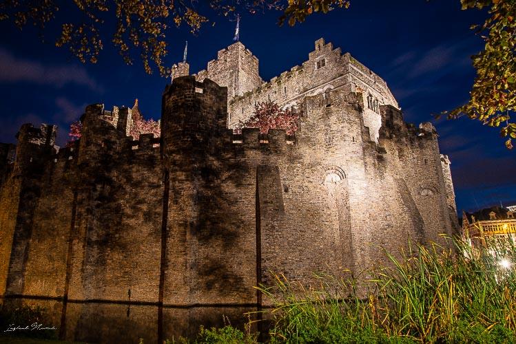 chateau des comtes de flandre gand nuit
