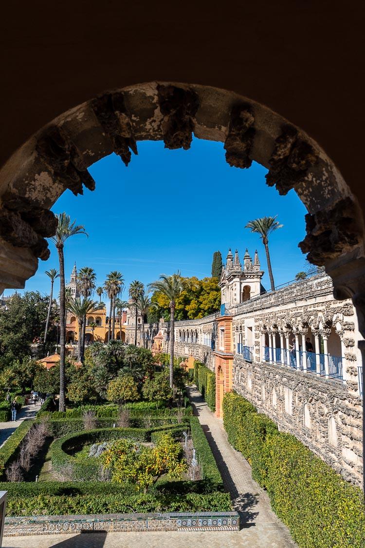 jardin real alcazar seville