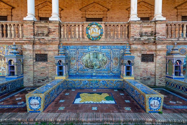 mosaique place espagne seville