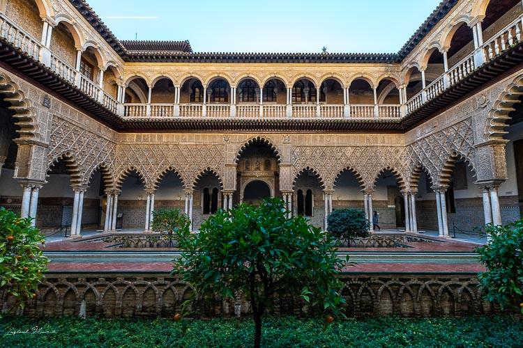 patio real alcazar seville