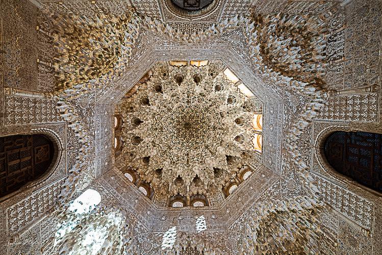 detail plafond alhambra grenade