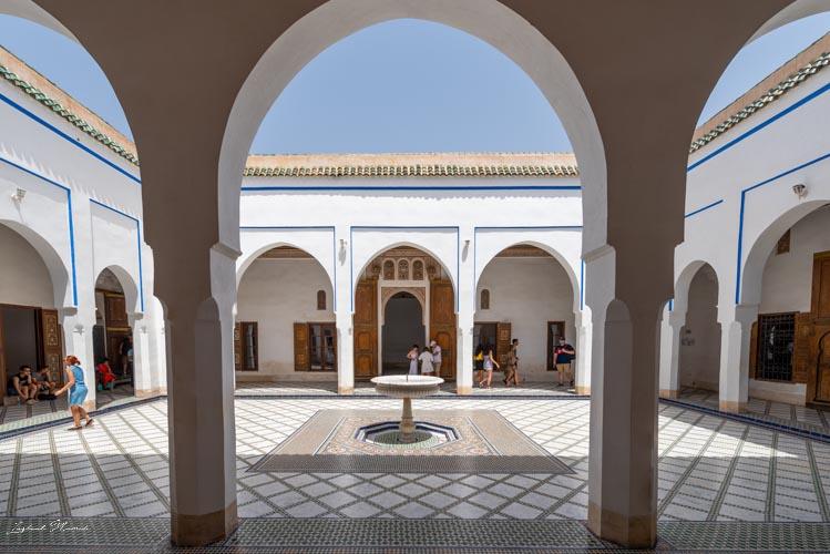 colonnes palais bahia marrakech