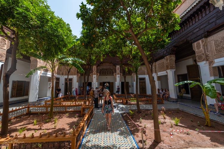cour palais bahia marrakech