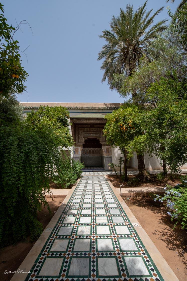 jardin palais bahia marrakech