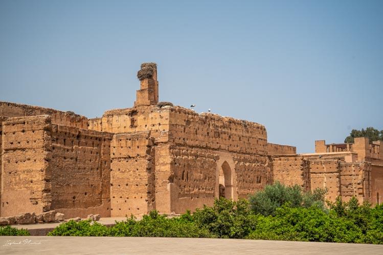 palais el badi mur marrakech