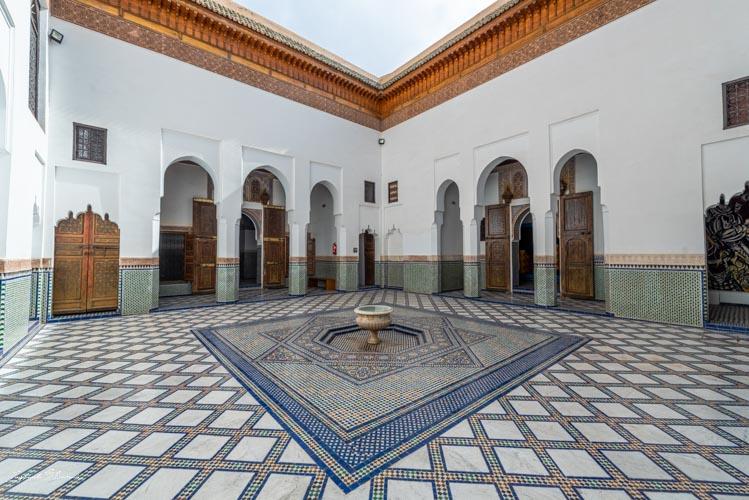 patio musée du tapis marrakech