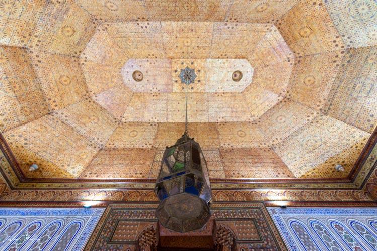 plafond musée tapis marrakech