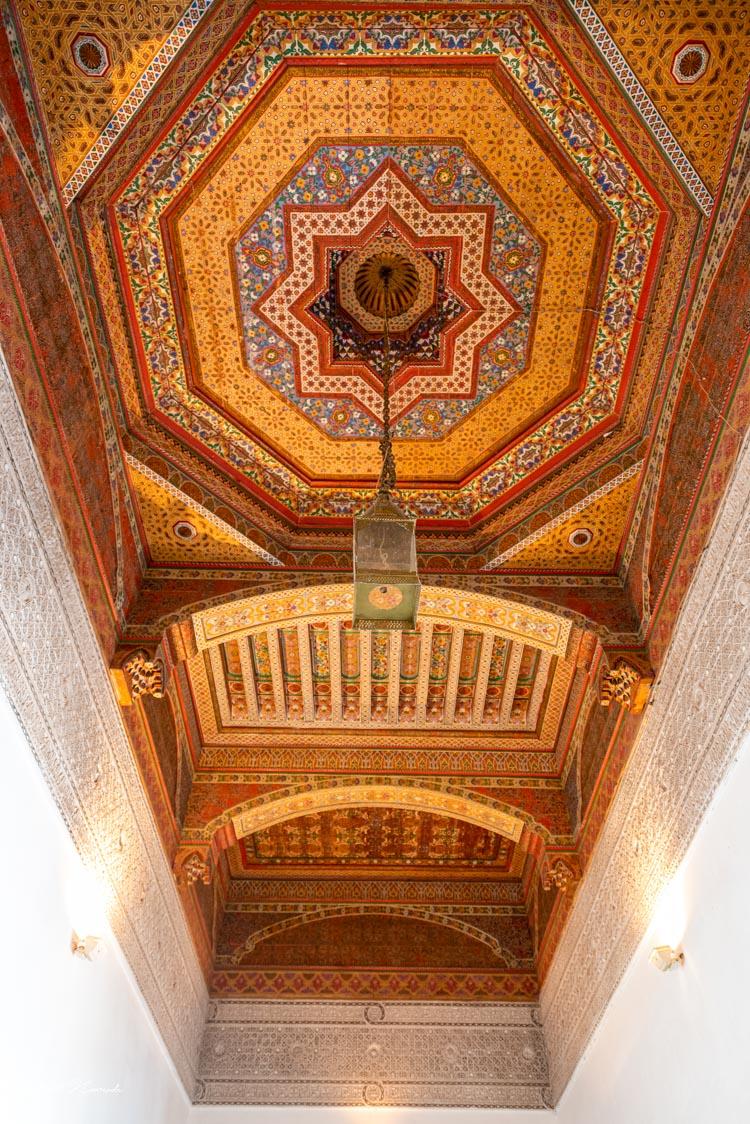 plafond palais bahia marrakech