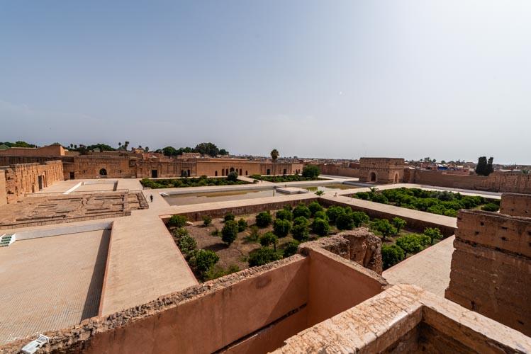 terrasse palais el badi marrakech