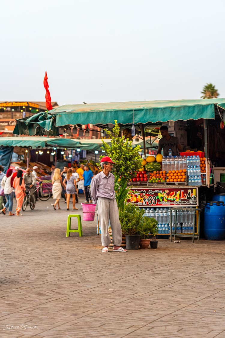 vendeur place jemaa el fna marrakech