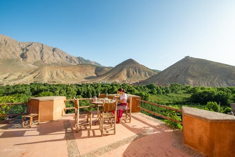 déjeuner kasbah vallée heureuse