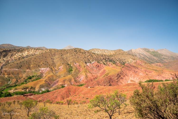 montagne ocre maroc