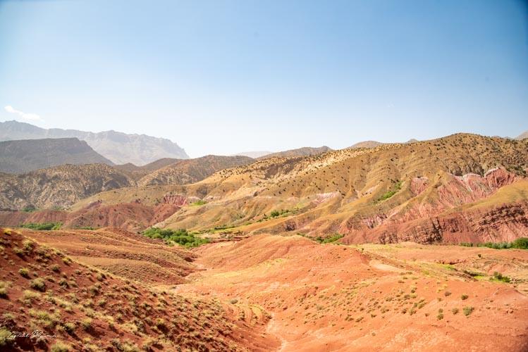 paysage coloré maroc