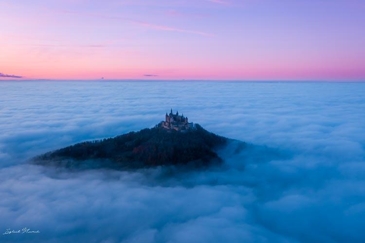 chateau hohenzollern coucher de soleil