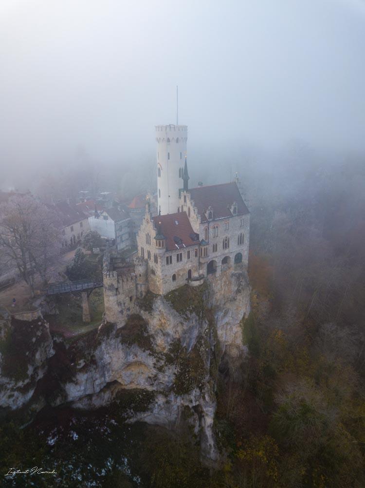 chateau lichtenstein vue aerienne
