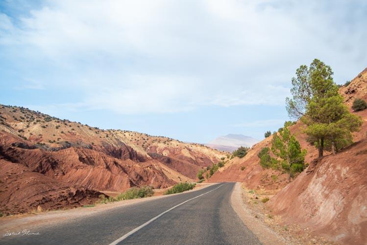 route paysage maroc