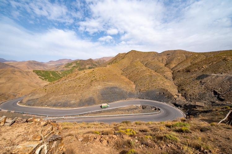 route sinueuse maroc