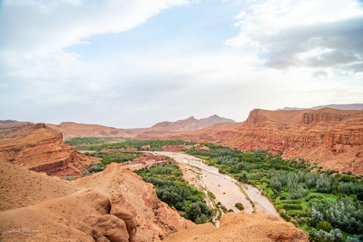 vue vallée des roses maroc