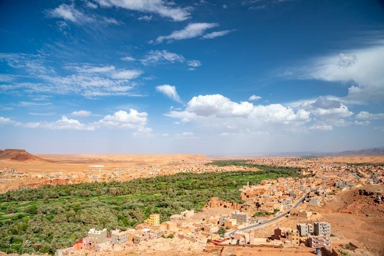 vue palmeraie tinghir maroc