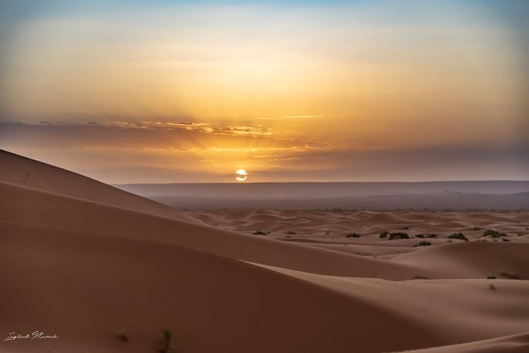lever de soleil désert maroc