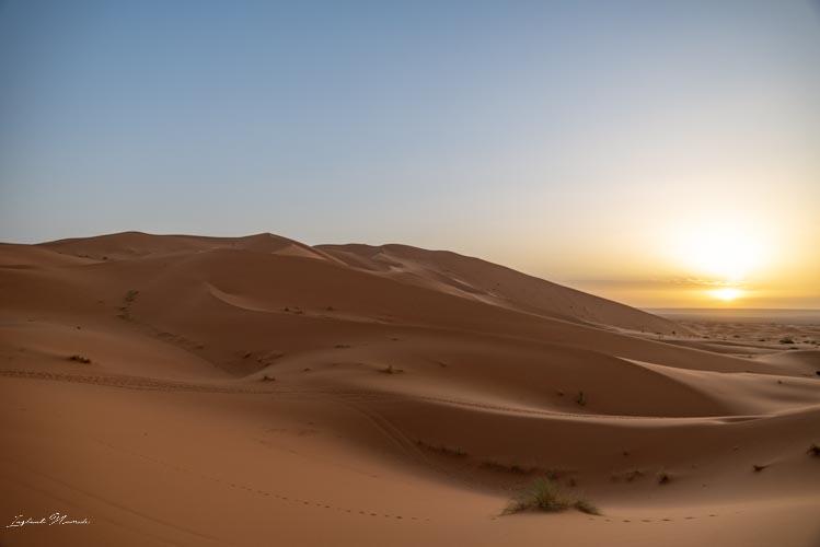 soleil désert maroc