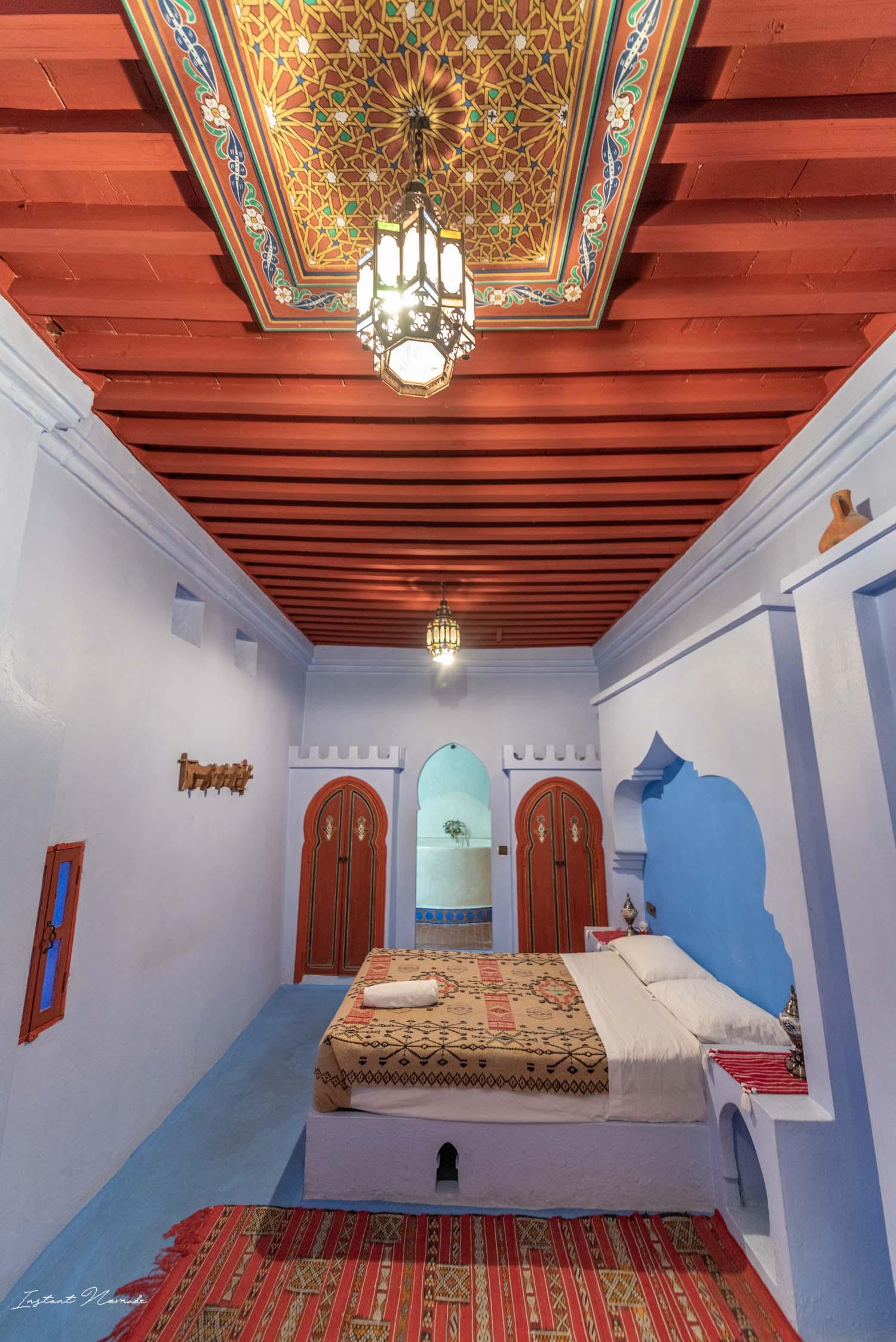 chambre hôtel chefchaouen