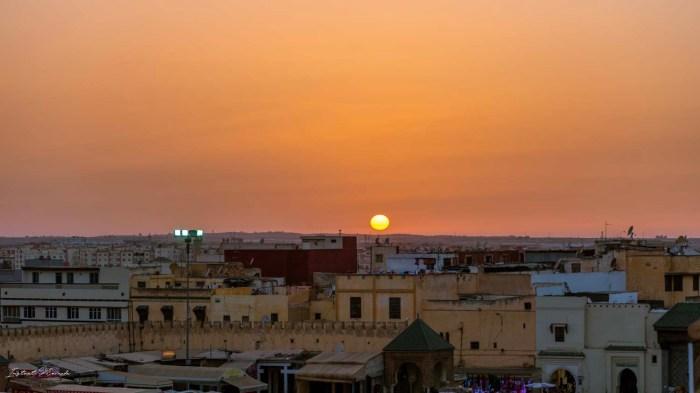 coucher de soleil meknes