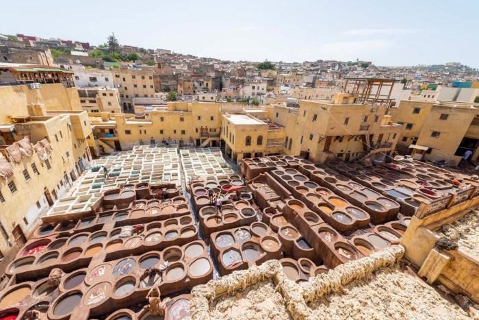 couleur tannerie chouara fez