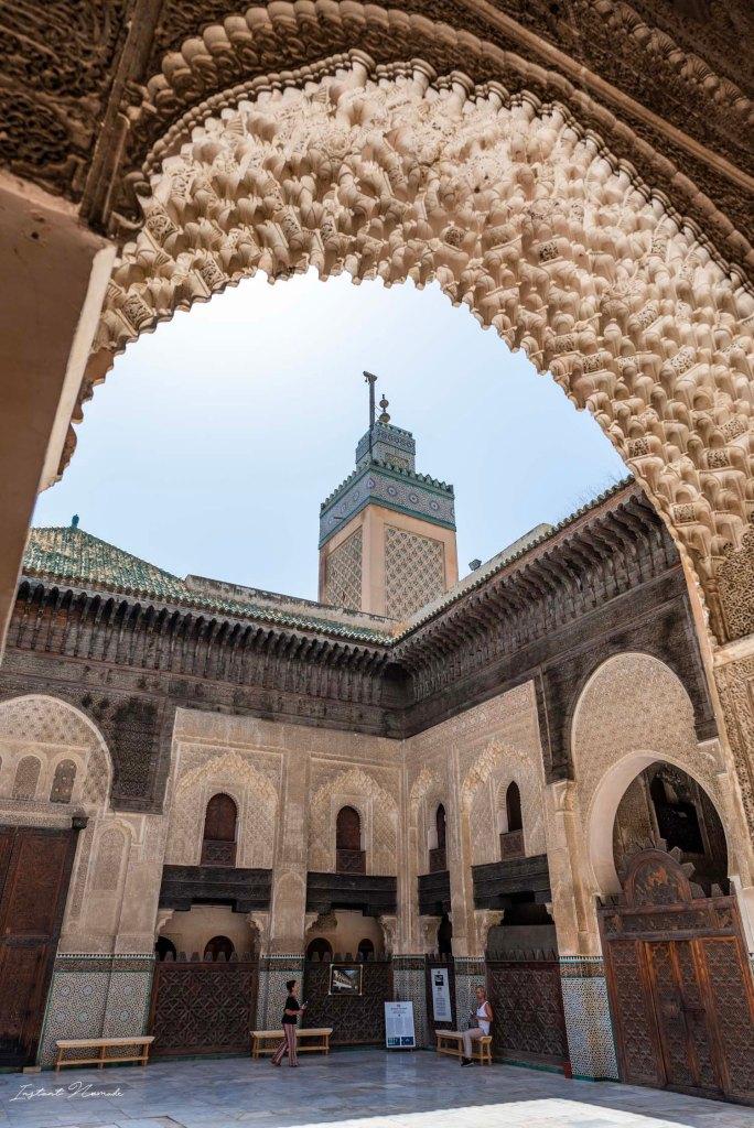 minaret medersa bou inania maroc