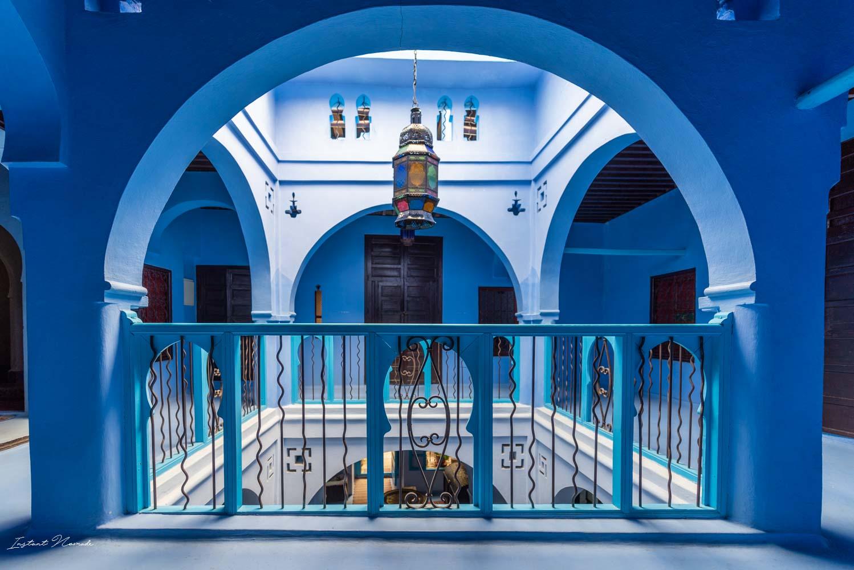 patio hôtel chefchaouen