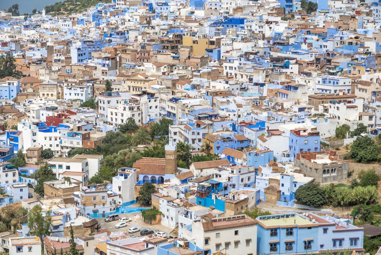 vue chefchaouen maroc