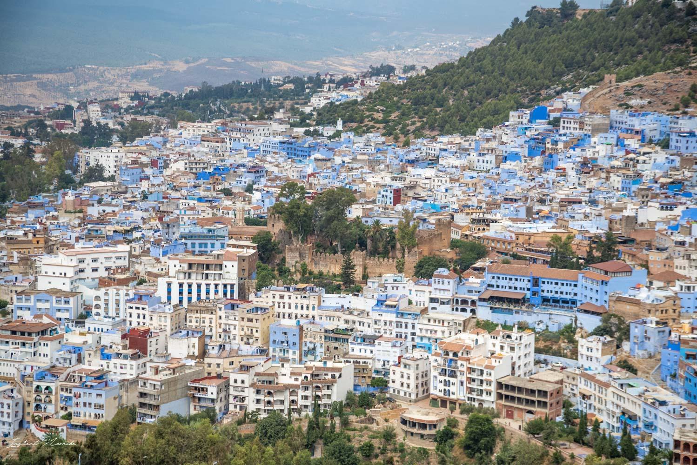 vue panoramique chefchaouen